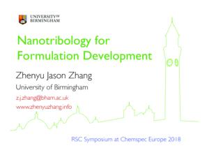 7. ZJZhang-Nanotribology-RSC Symposium 2018